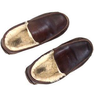 Ugg Ascot 5739 Brown Leather Men's Slippers